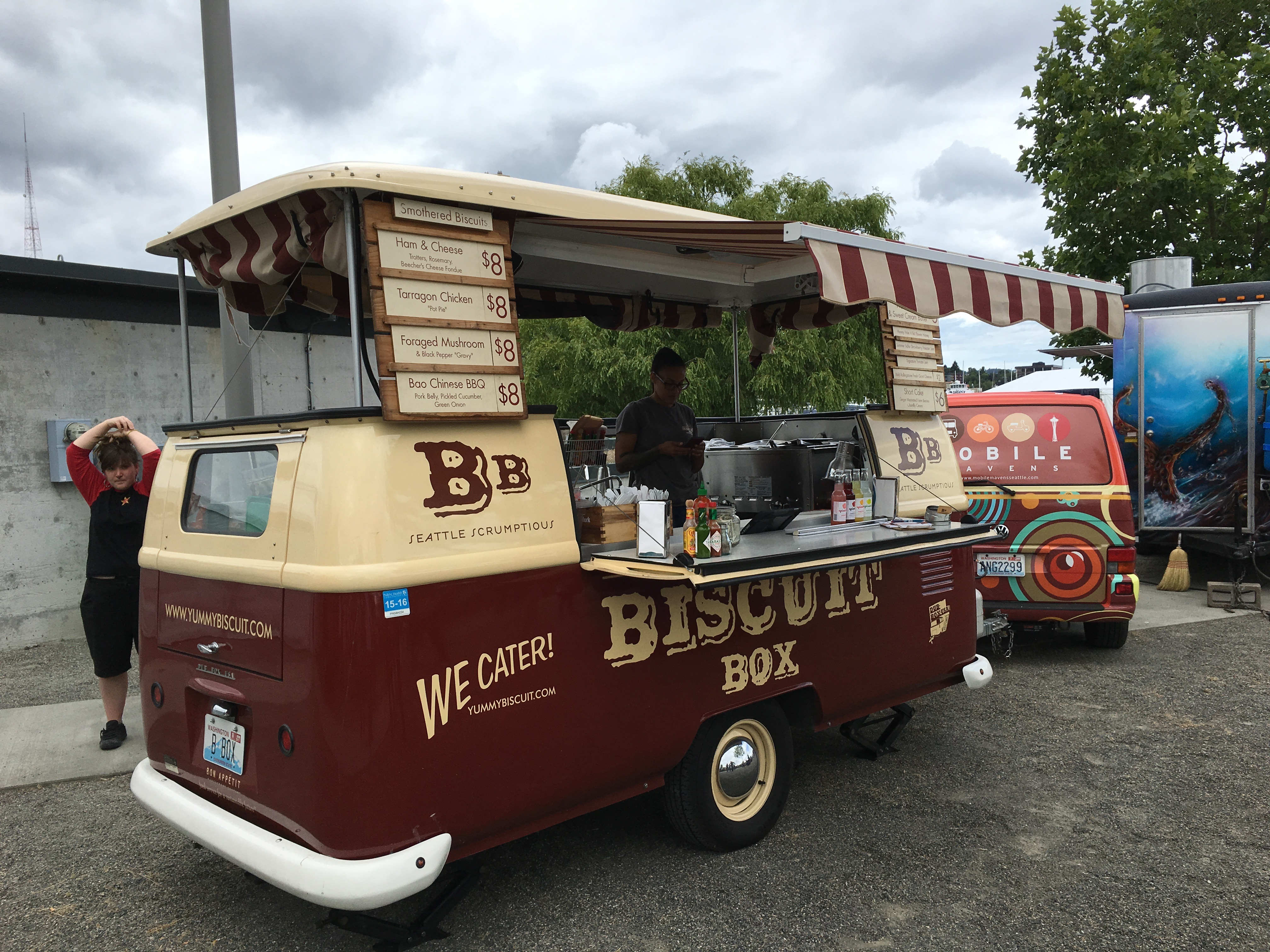 The converted Volkswagen Bus into Biscuit Box at Sierra Nevada Beer Camp Across America Festival in Seattle. (photo by D.J. Paul)