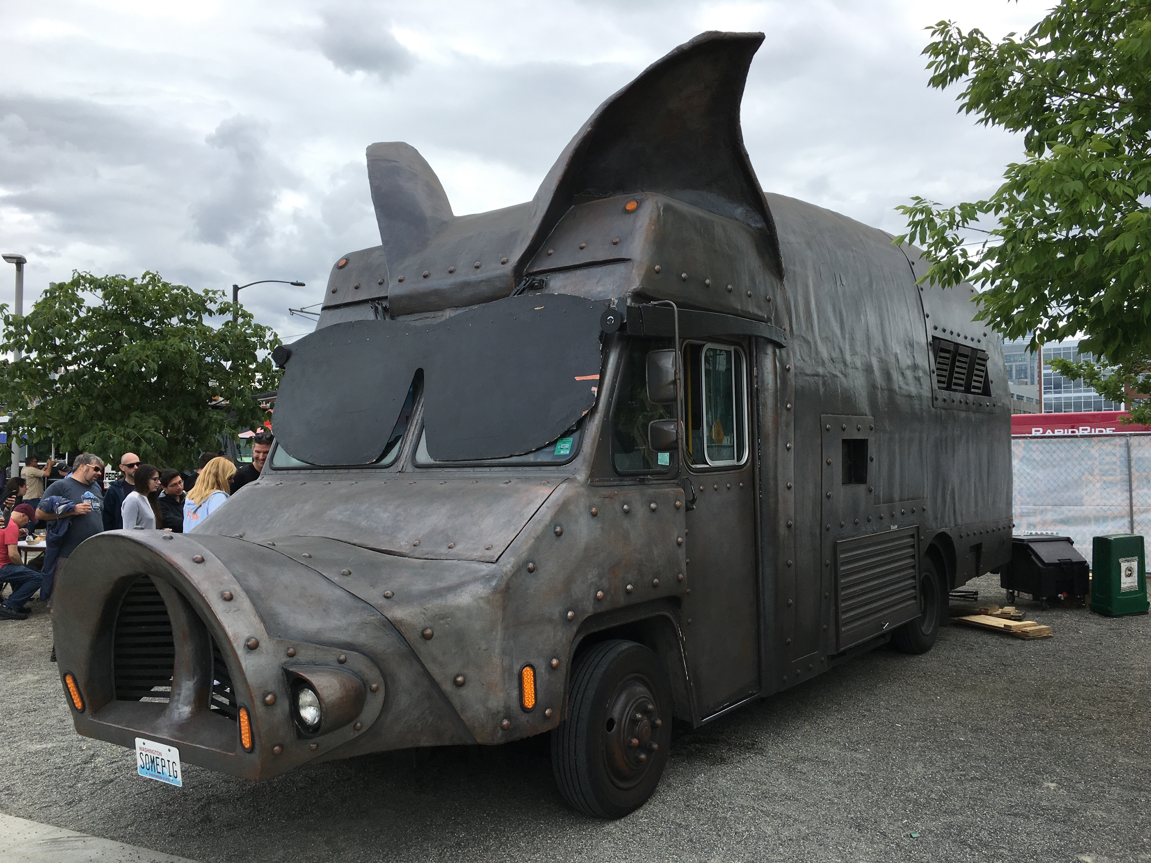 This is one massive food truck, Maximus:Minimus BBQ truck at Sierra Nevada Beer Camp Across America Festival in Seattle. (photo by D.J. Paul)