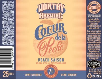 Worthy Brewing Coeur de la Peche Label