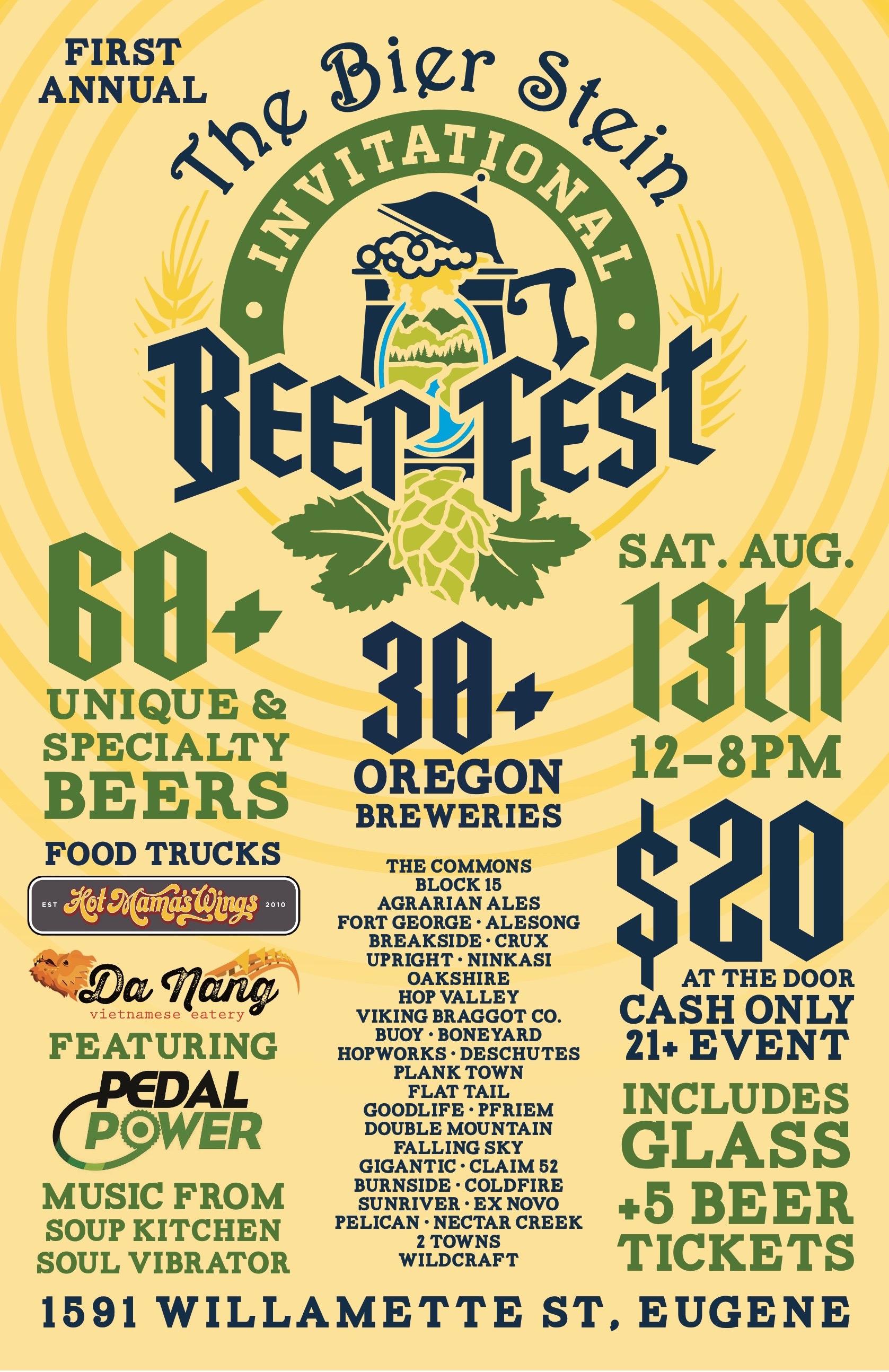 Bier Stein Invitational Beer Fest Poster