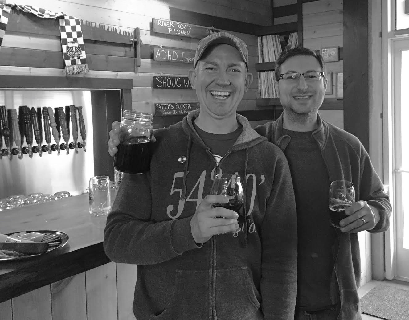 Bolt Minister of 54-40 Brewing and Alex Ganum of Upright Brewing