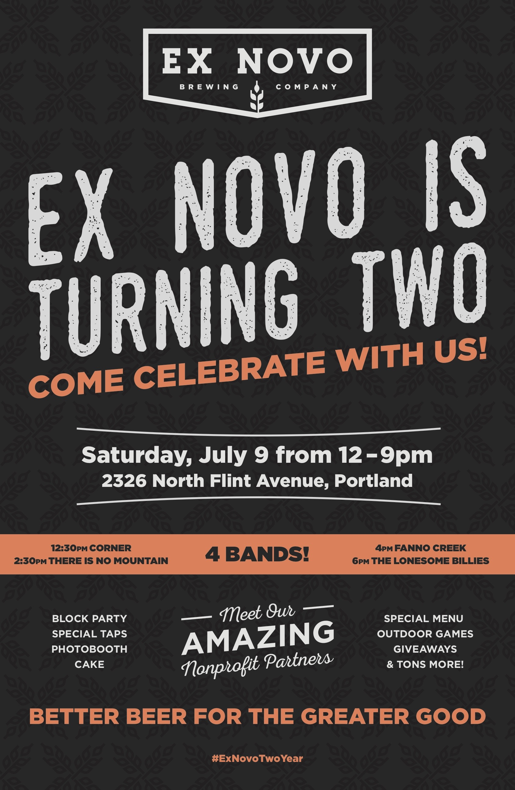 Ex Novo Two Year Anniversary