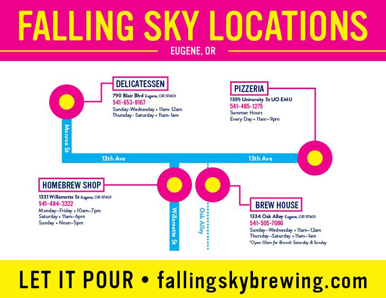 Falling Sky Brewing Locations