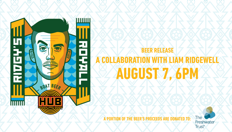 Liam Ridgewell and Hopworks Collaboration Beer