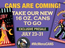 McMenamins 16 oz. Can Release for Ruby Ale and Hamerhead Ale.