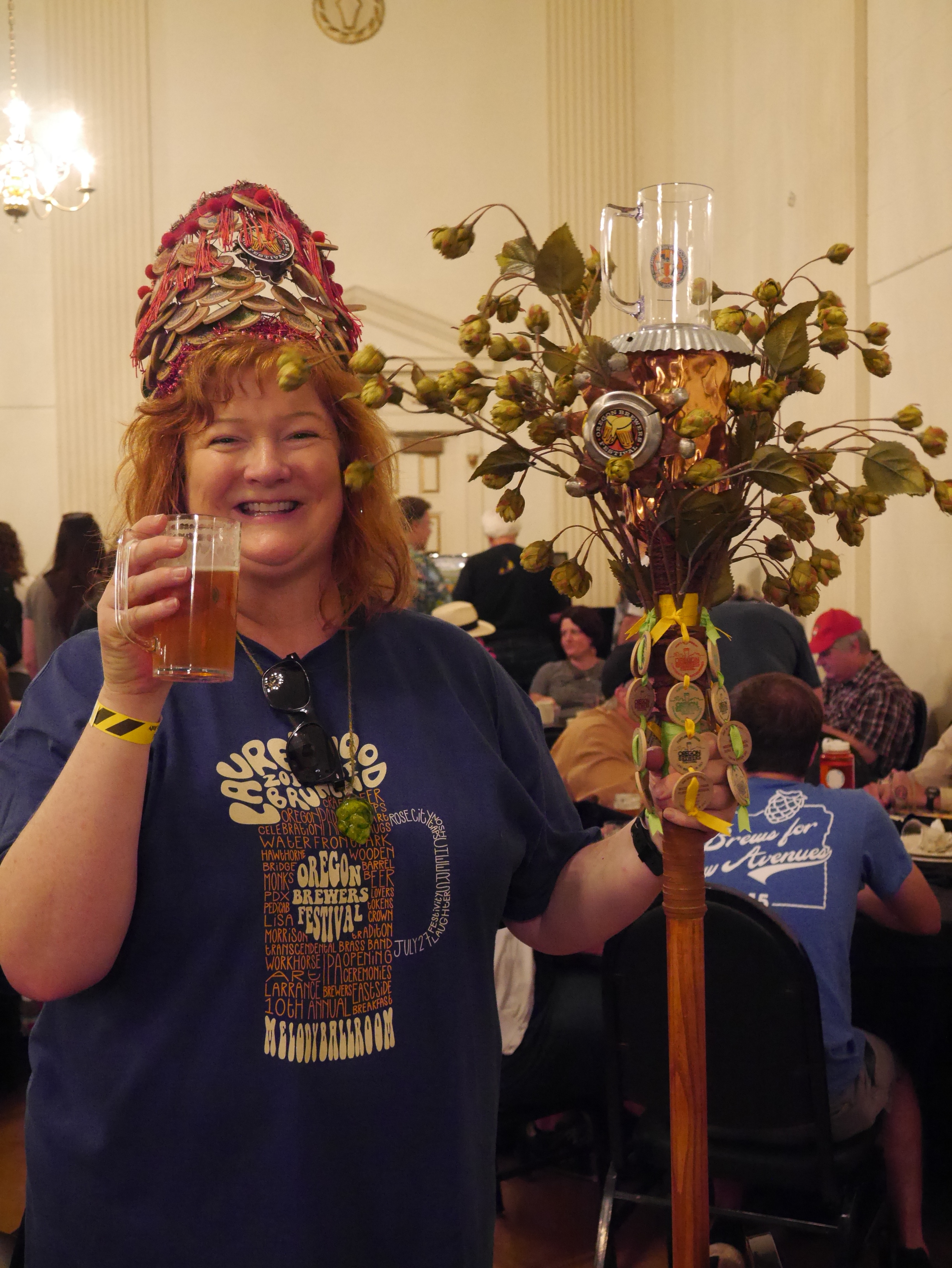 The 2016 Oregon Brewers Parade Grand Marshal, Lisa Morrison, at the 2016 Oregon Brewers Festival Brunch. (photo by Cat Stelzer)