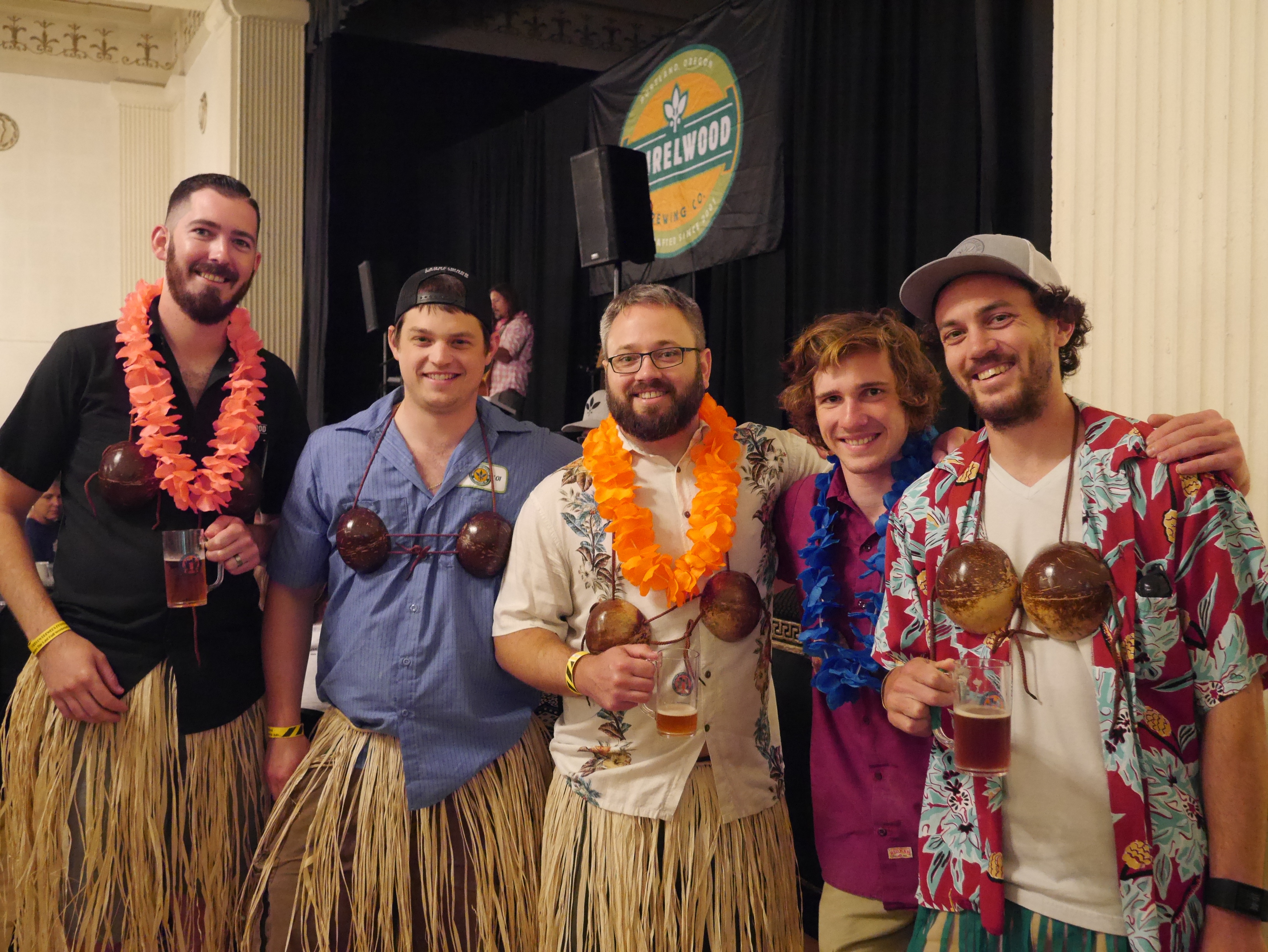 The Laurelwood Brewing Brew Team at the 2016 Oregon Brewers Festival Brunch. (photo by Cat Stelzer)