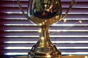 The Portland International Cider Cup on display during the PICC Awards Ceremony.