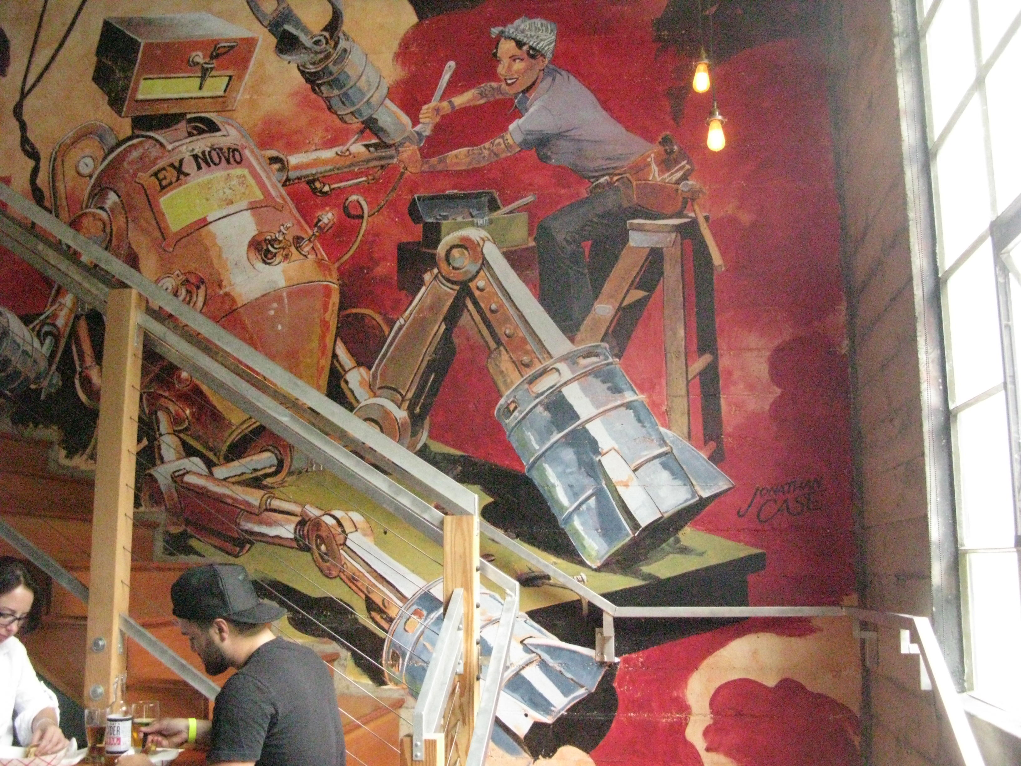 The painted mural at Ex Novo Brewing. (FoystonFoto)