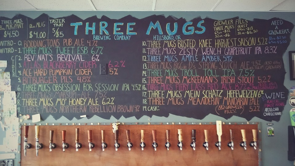 Three Mugs Brewing 3rd Anniversary. (image courtesy of Three Mugs Brewing)