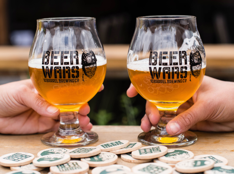 10 Barrel Brewing Beer Wars, a battle to see which states brew the best IPA. (image courtesy of 10 Barrel Brewing)
