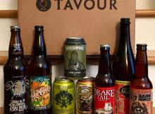 A package of craft beer received from Tavour.