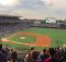 A scenic view of Wrigley Field, now with much more advertising than in its glorified past. (photo by Kerry Finsand)