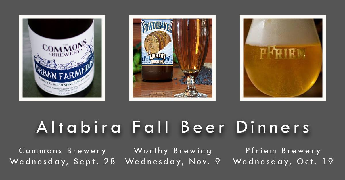 Altabira 2016 Fall Beer Dinners