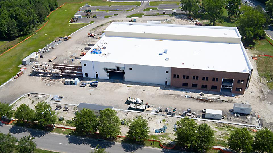 An aerial view of the new Virginia Beach, Virginia location of Green Flash Brewing. (image courtesy of Green Flash Brewing)