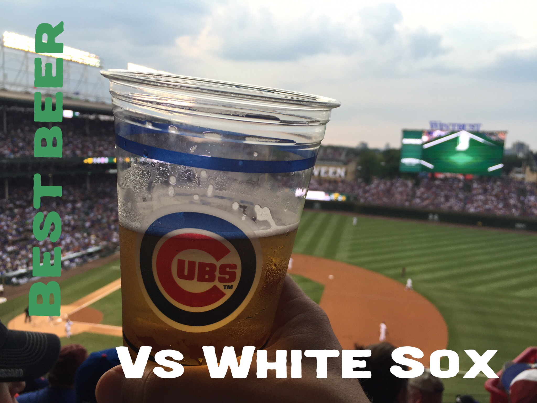Cubs vs White Sox, a view from the Upper Deck at Wrigley Field. (photo by Kerry Finsand)