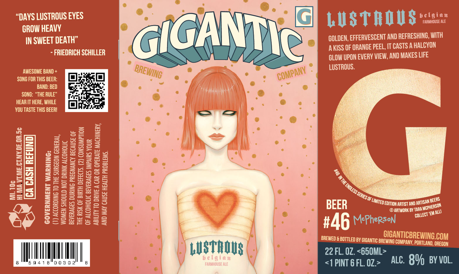Gigantice Brewing Lustrous Label