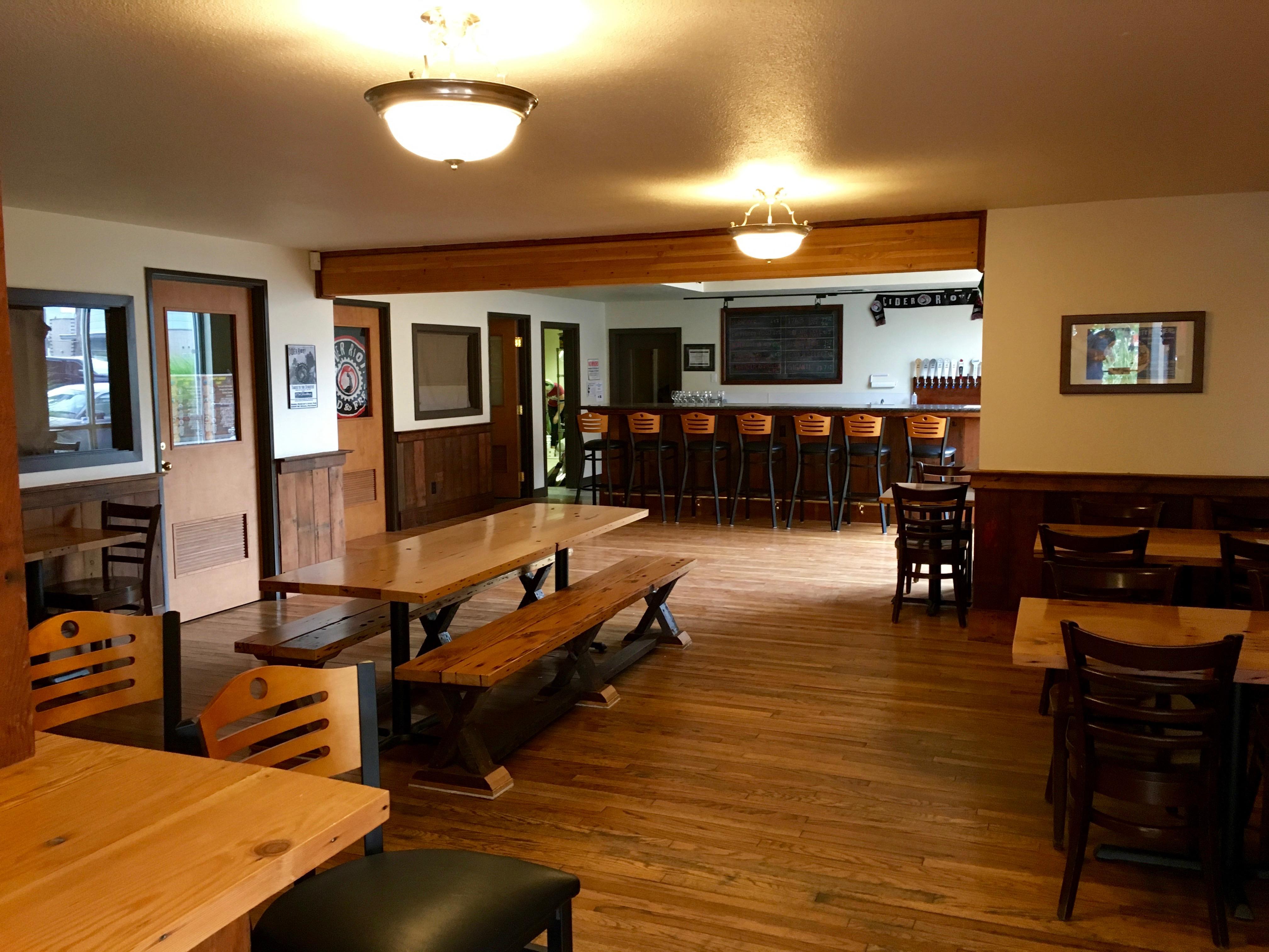 Interior of Cider Riot! Pub.
