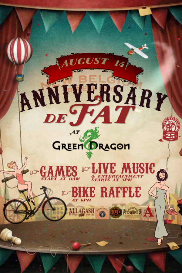 New Belgium 25th Anniversary at Green Dragon
