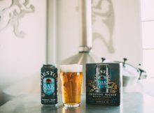 A pour of FIrestone Walker Oaktoberfest from its new packaging, a 16 oz. can. (image courtesy of Firestone Walker)
