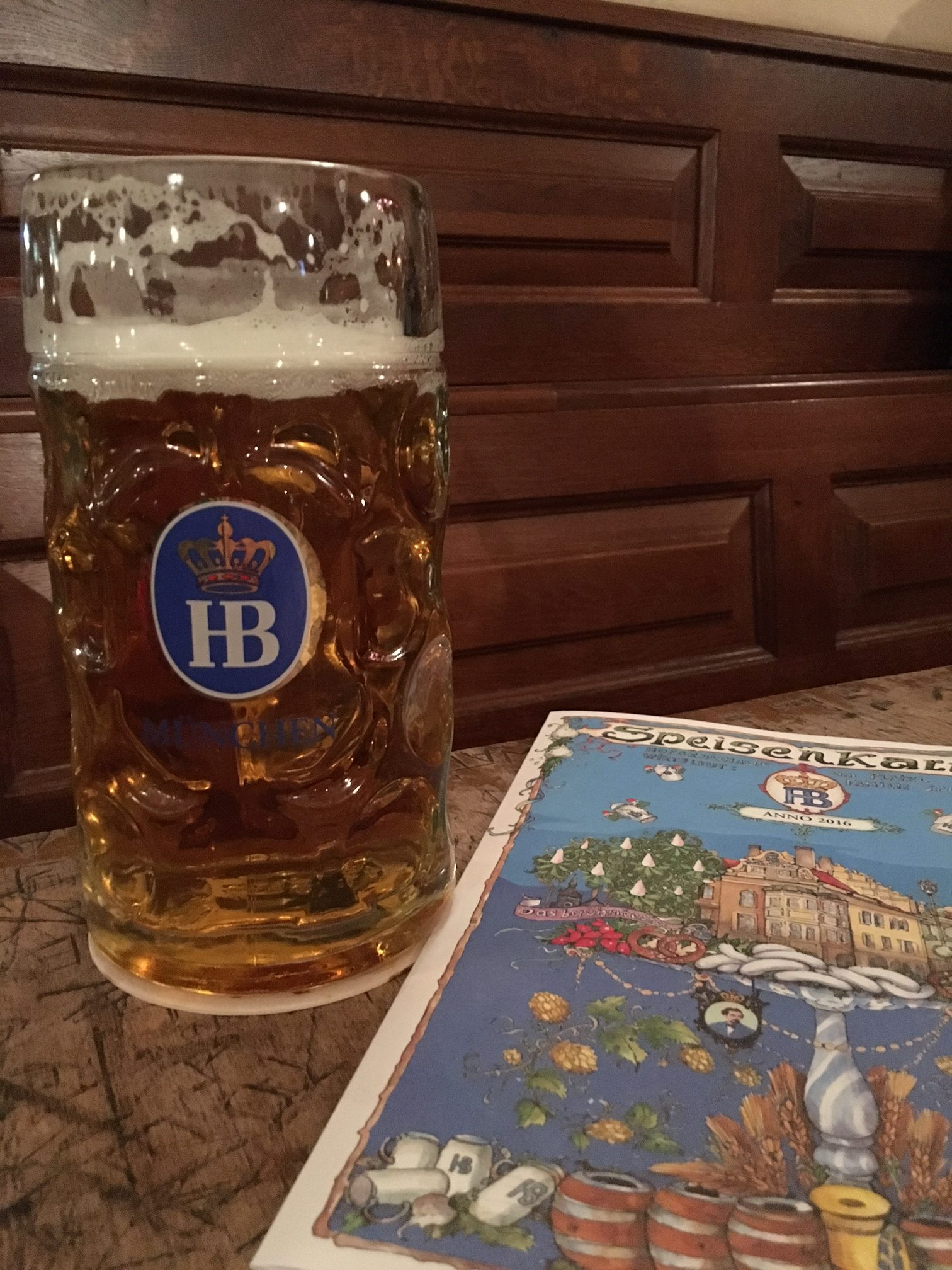 One liter of bier at Hofbrauhaus Munchen. (photo by Cat Stelzer)