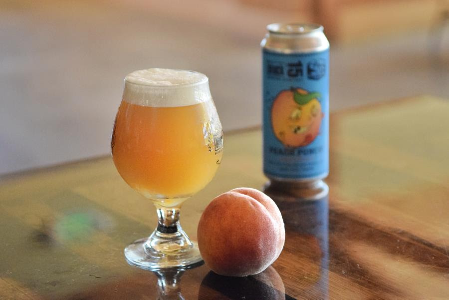 Peach Punch (You in the Eye) IPA w: Peaches & Apricots. (image courtesy of Block 15 Brewing)