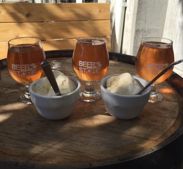 Sample various options of Finnriver Cider as the special ingredient in these ice cream sundaes. (photo by Jana Daisy-Ensign)