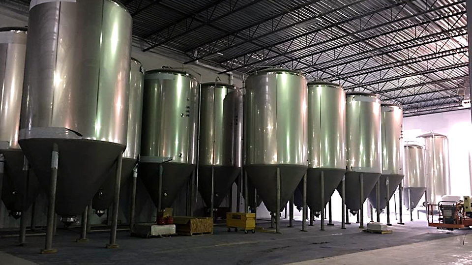 Tanks arriving at the new Virginia Beach, Virginia location of Green Flash Brewing. (image courtesy of Green Flash Brewing)