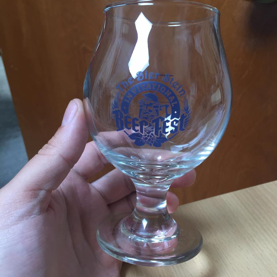 The Bier Stein Invitational Beer Fest Glassware. (image courtesy of The Bier Stein)