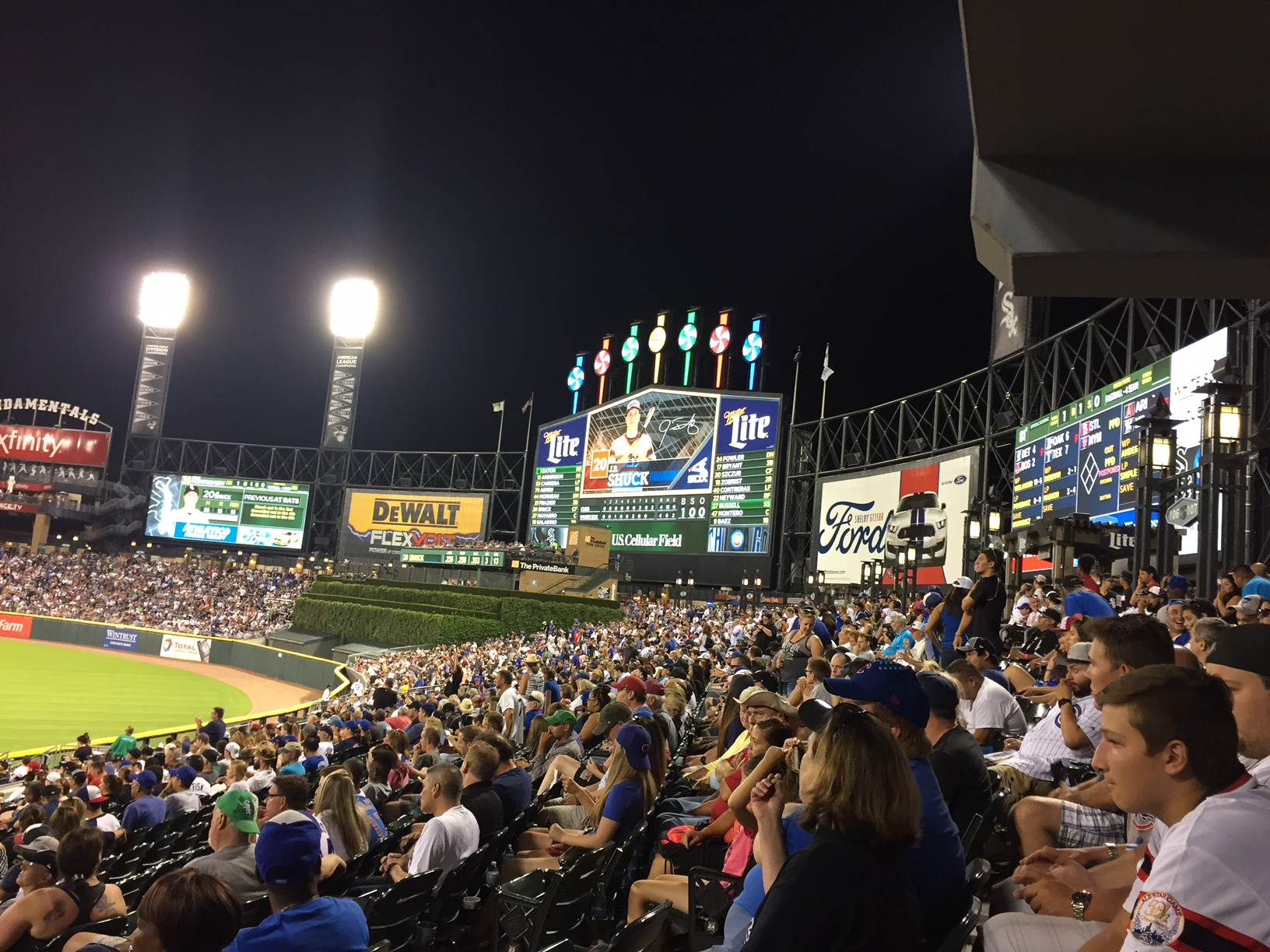 The Good Guys take first game in the series when the Cubs visited the White Sox. (photo by Kerry Finsand)