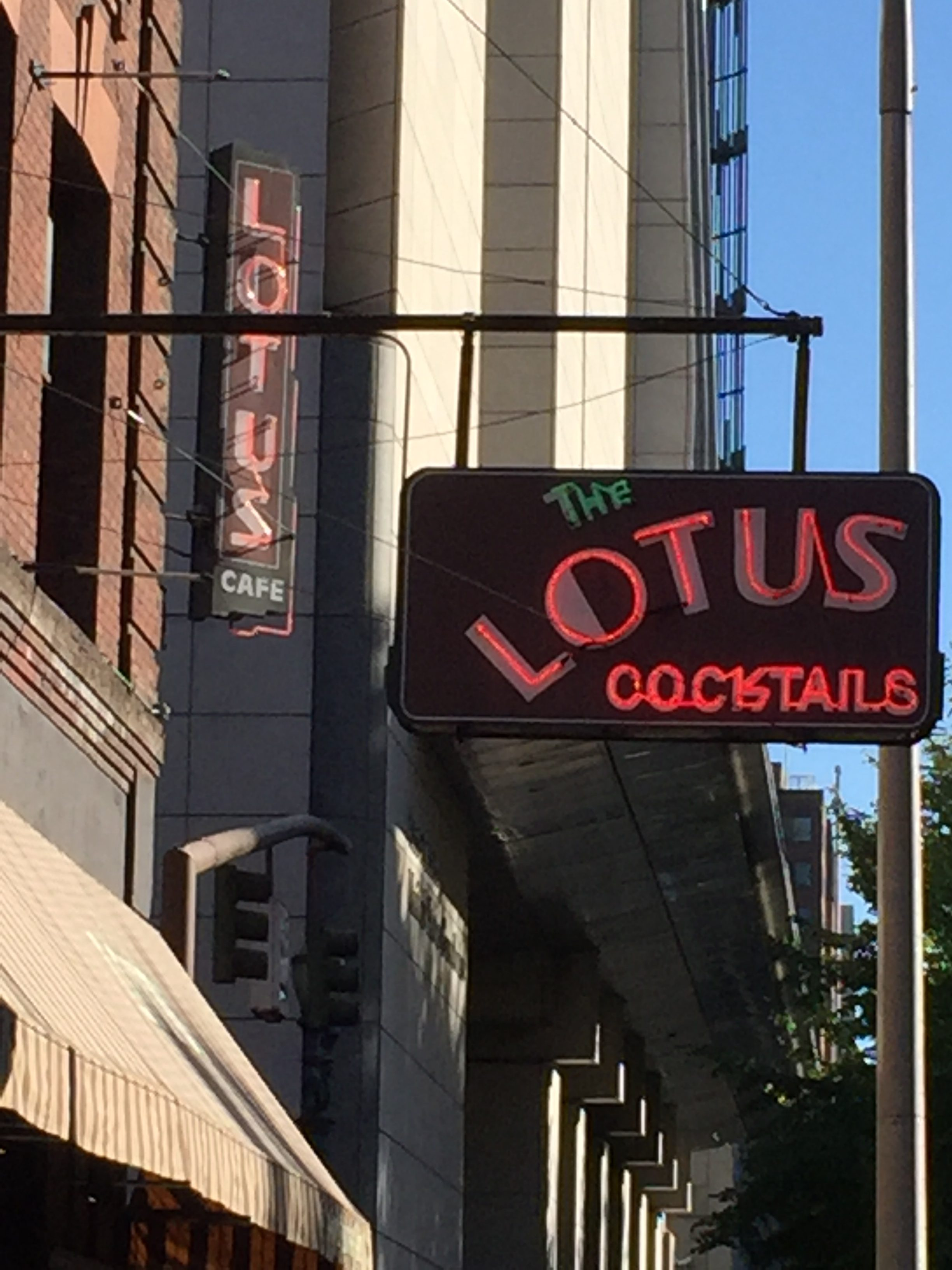 The sign from The Lotus Cardroom will soon come down to make way for more Portland development. (FoystonFoto)