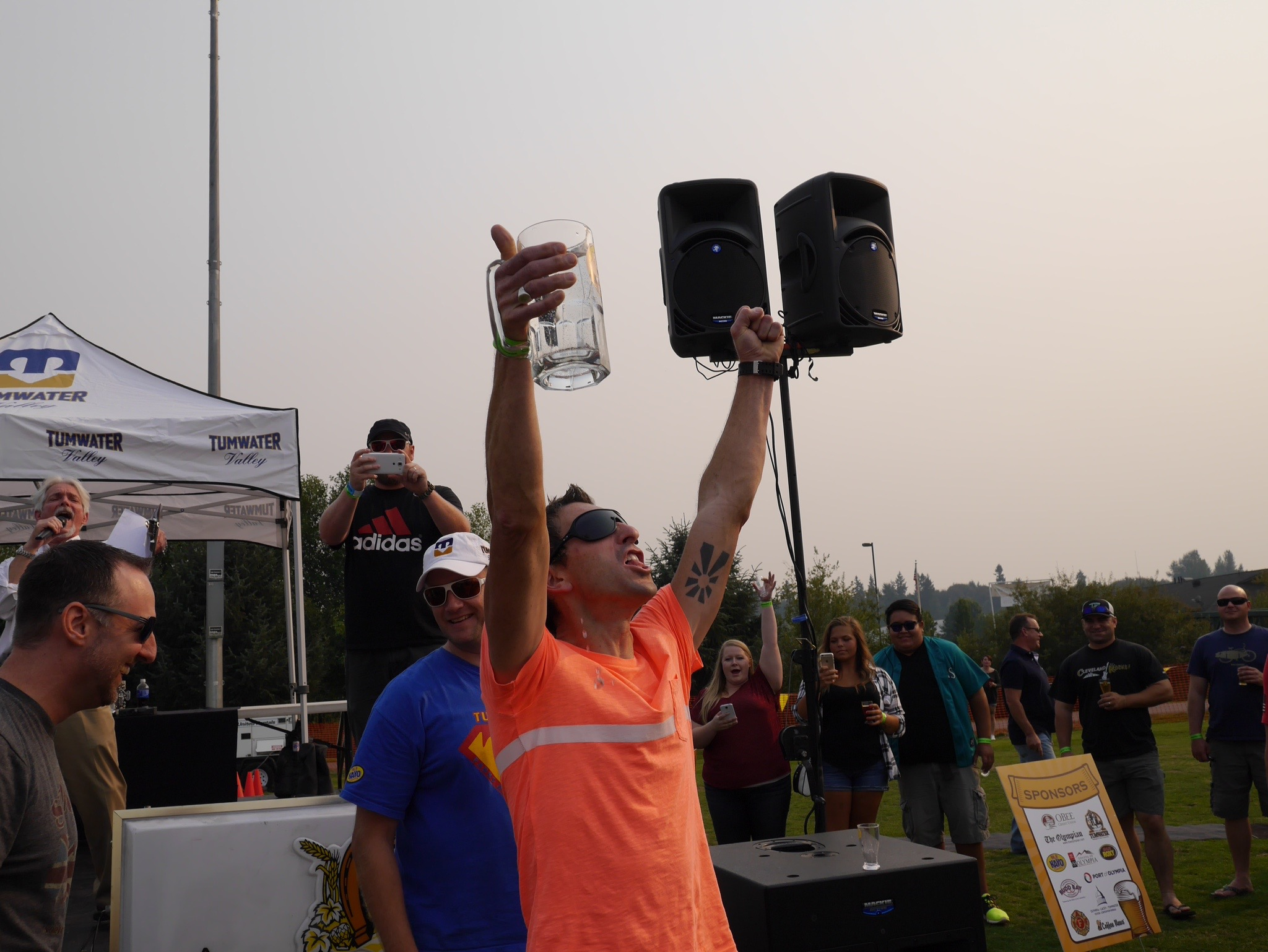 The winner of the Stein Holiding Contest at the Tumwater Artesian Brewfest. (photo by Cat Stelzer)