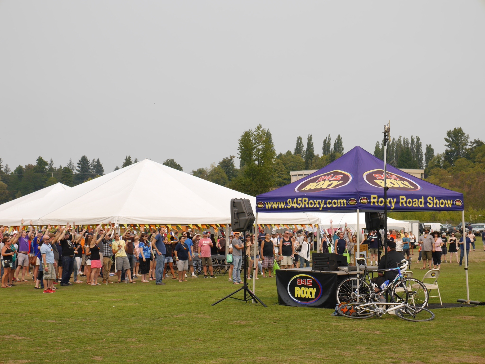 Tumwater Artesian Brewfest tents. (photo by Cat Stelzer)