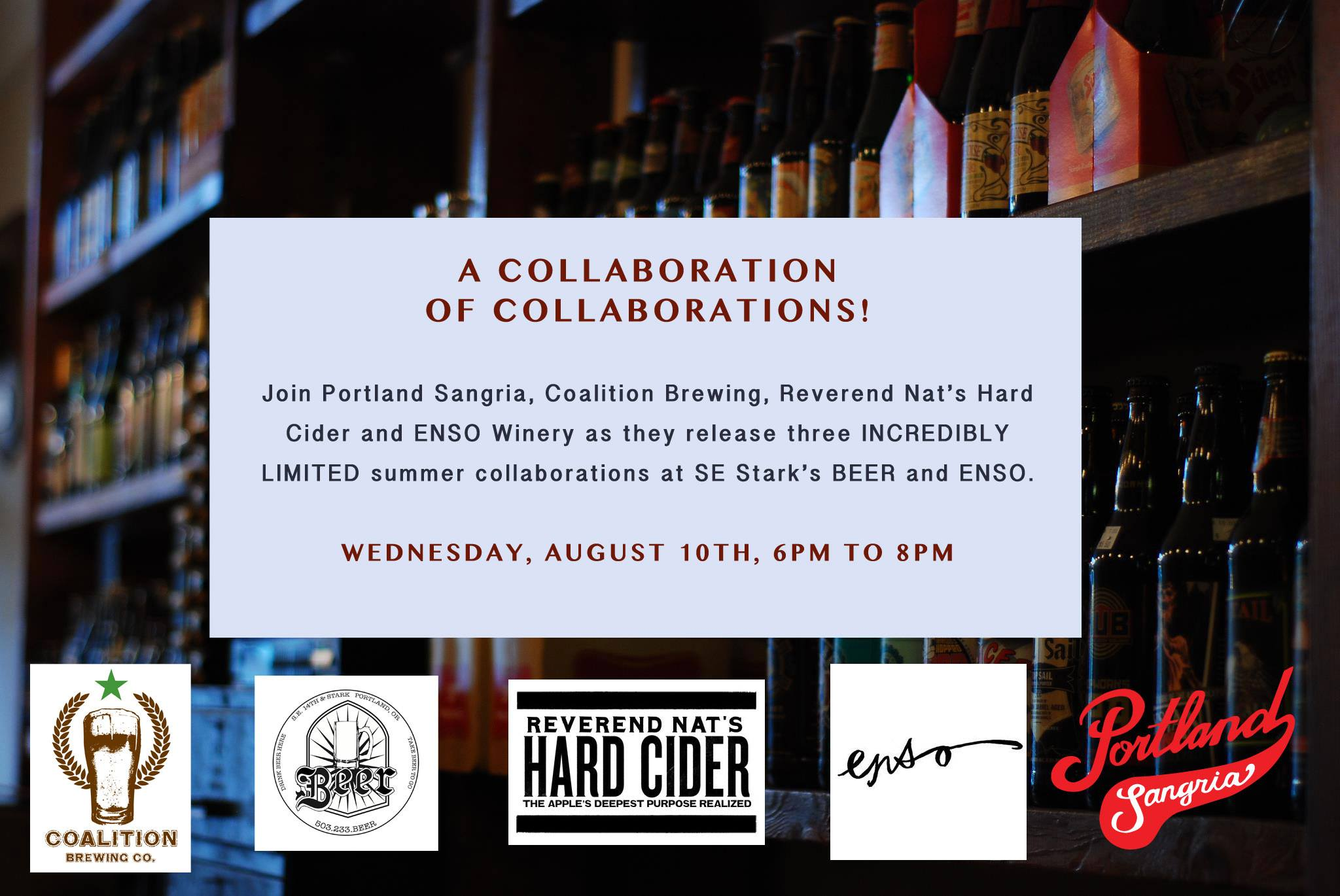 WINE x BEER x SANGRIA x CIDER: A COLLABORATION OF COLLABORATIONS