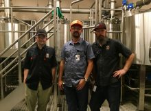 Widmer Brothers Brewing Innovation Brewery team of Dan Munch, Tom Bleigh, and Corey Blodgett.