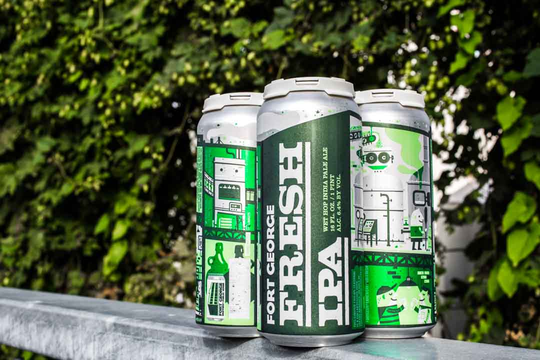 4 pack of Fort George Brewery Fresh IPA. (image courtesy of Fort George Brewery)