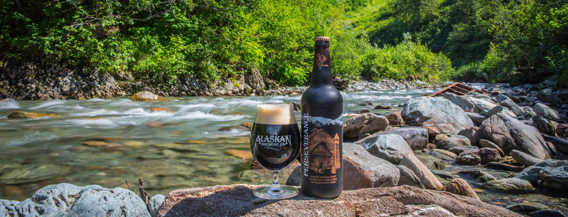 Alaskan Brewing's 30th Anniversary beer, Perseverance Russian Imperial Stout. (image courtesy of Alaskan Brewing)