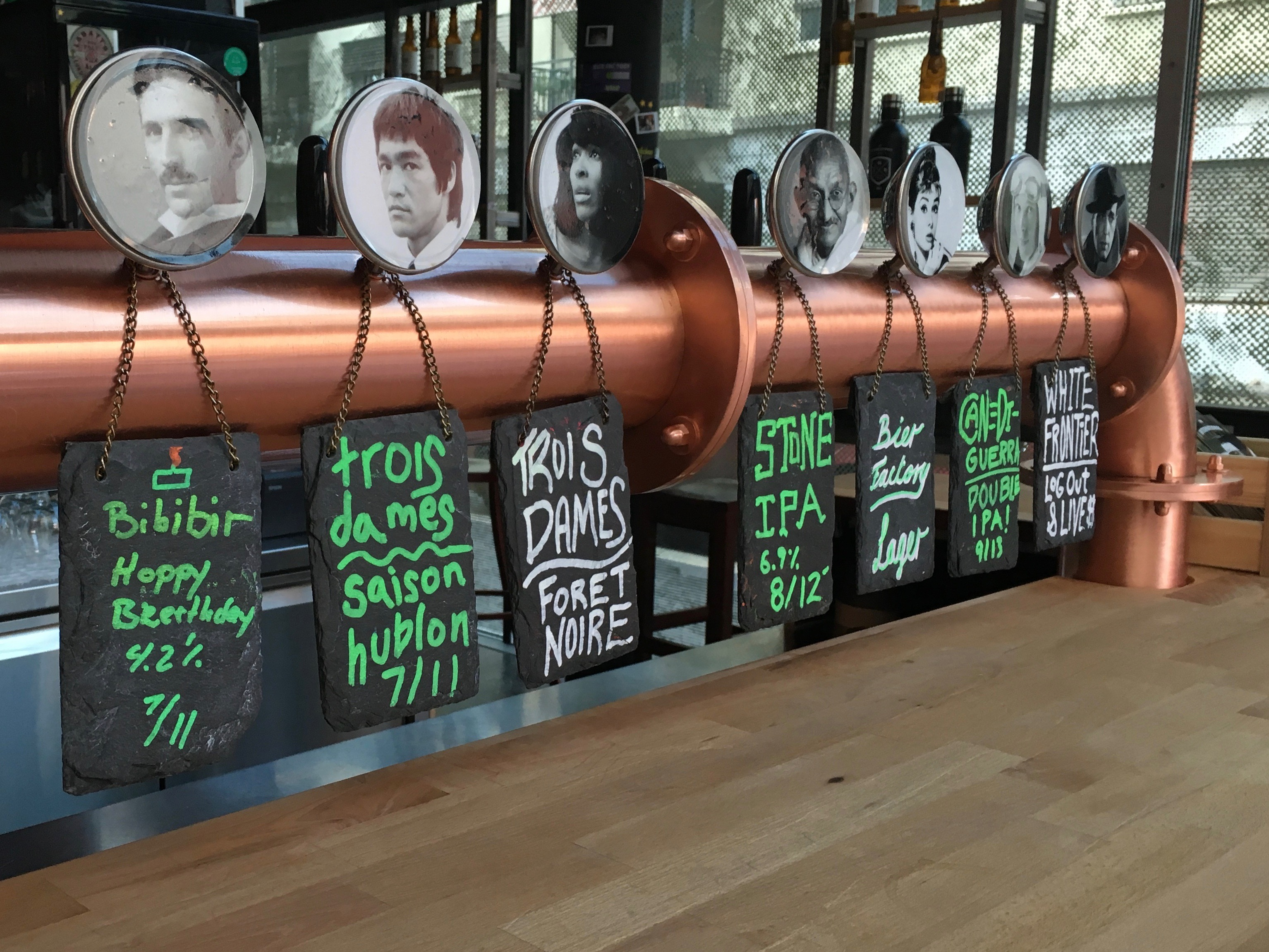 Berlin brewed Stone IPA on tap at The International Beer Bar in Zurich Switzerland. (photo by D.J. Paul)