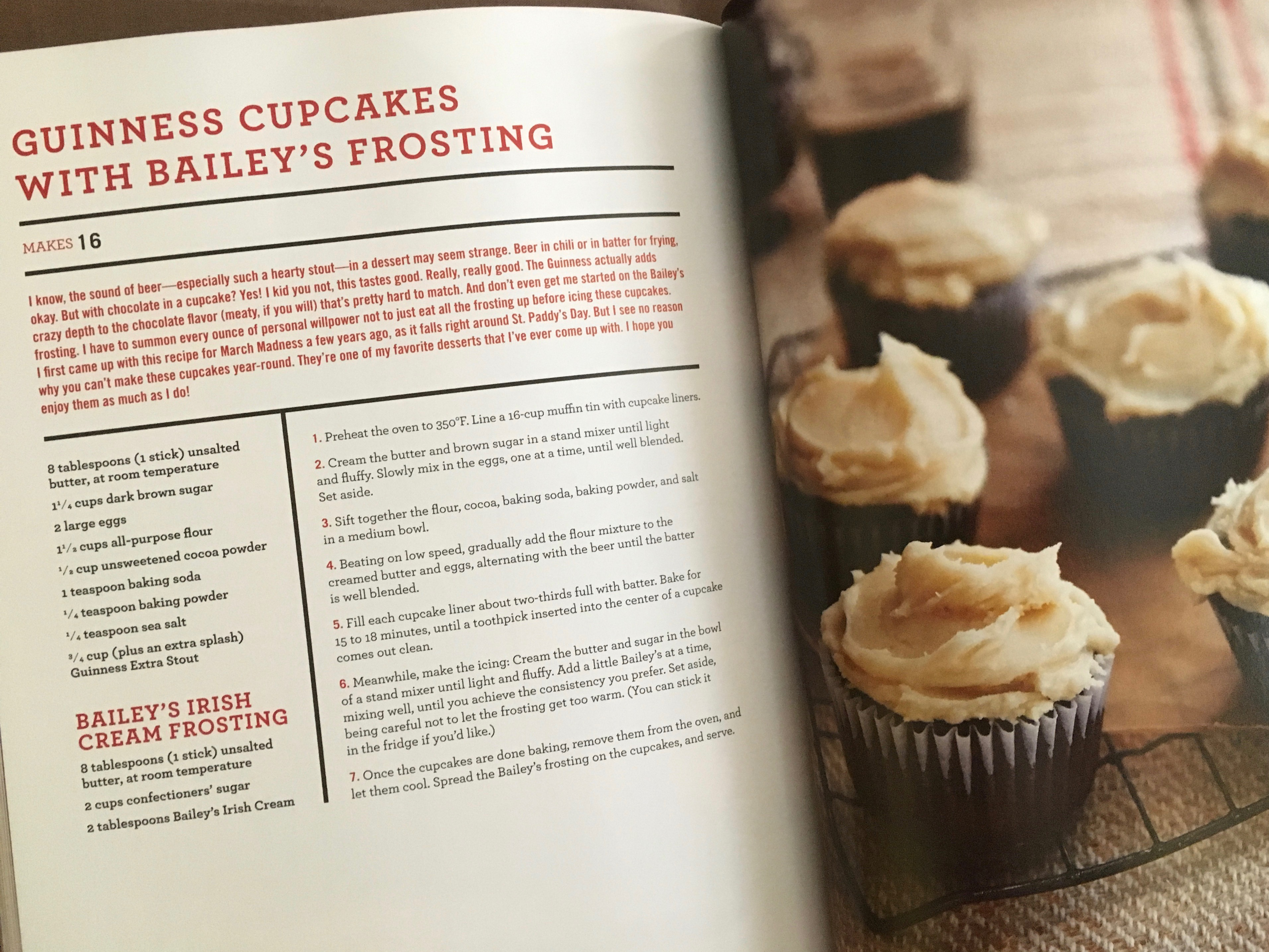 Guinness Cupcakes with Bailey's Frosting from The Hungry Fan's Game Day Cookbook.