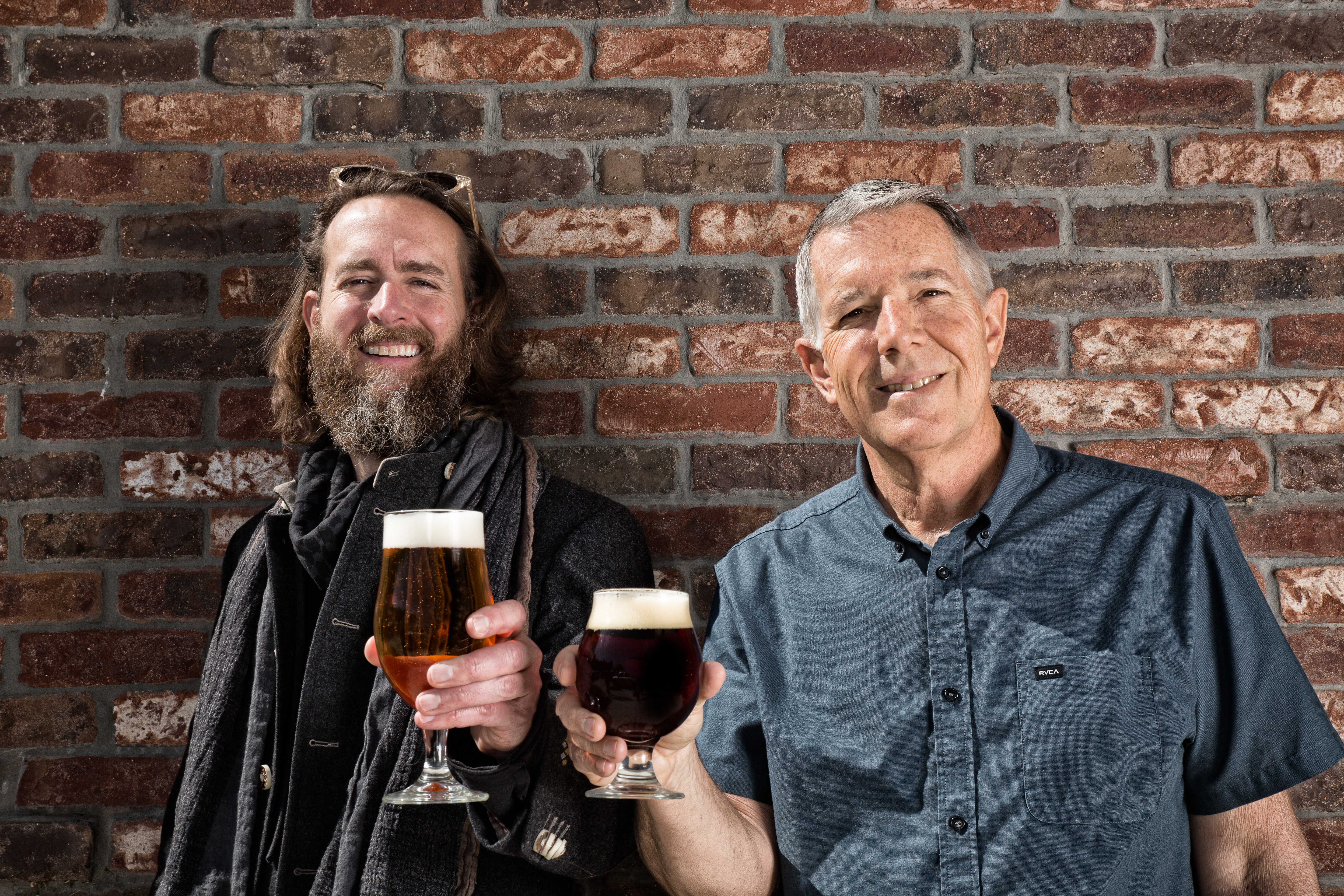 Stone Brewing co-founders, Greg Kock and Steve Wagner. (image courtesy of Stone Brewing)
