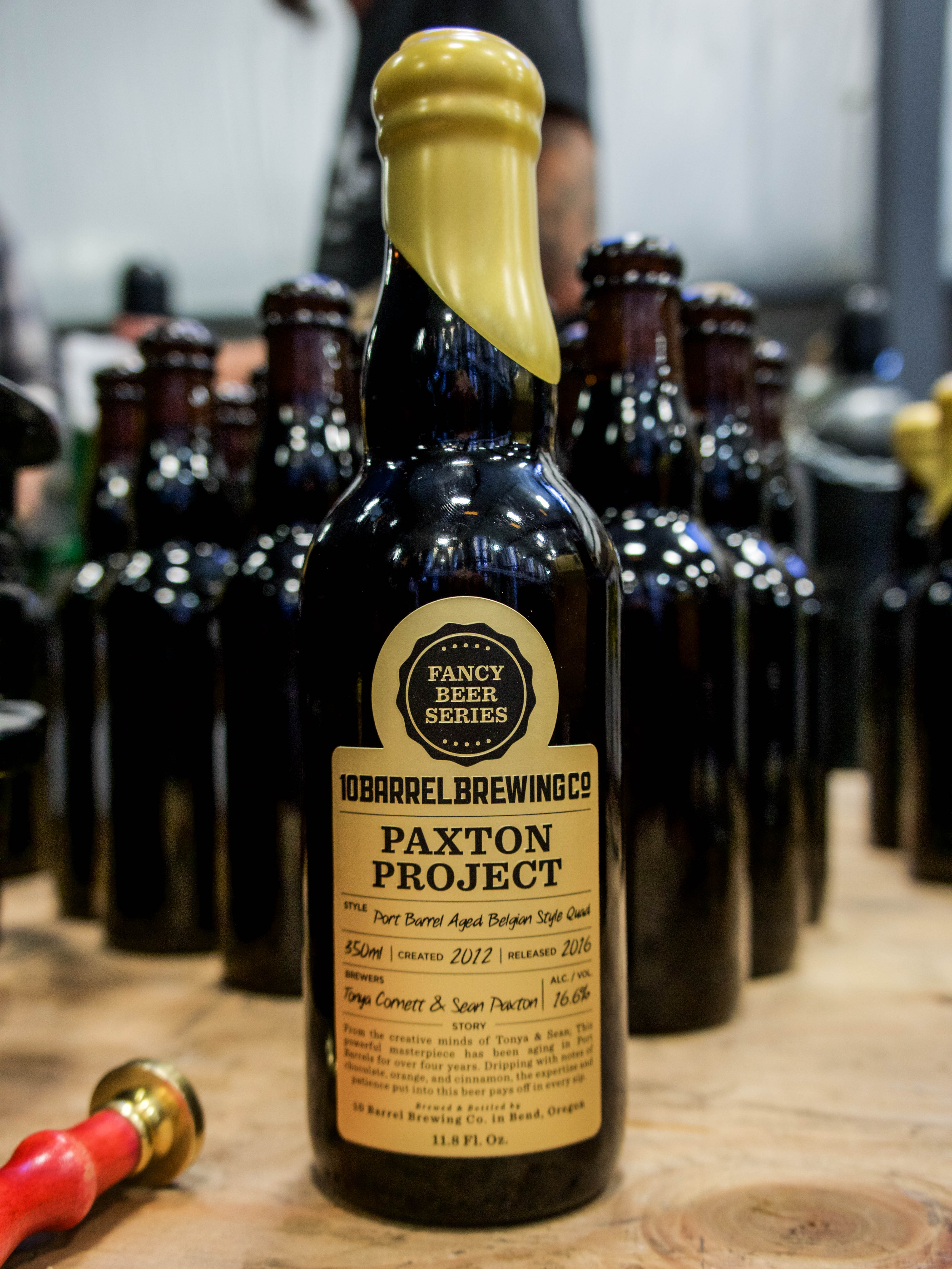 The Paxton Project, the second release from the Fancy Beer Series from 10 Barrel Brewing. (image courtesy of 10 Barrel Brewing)