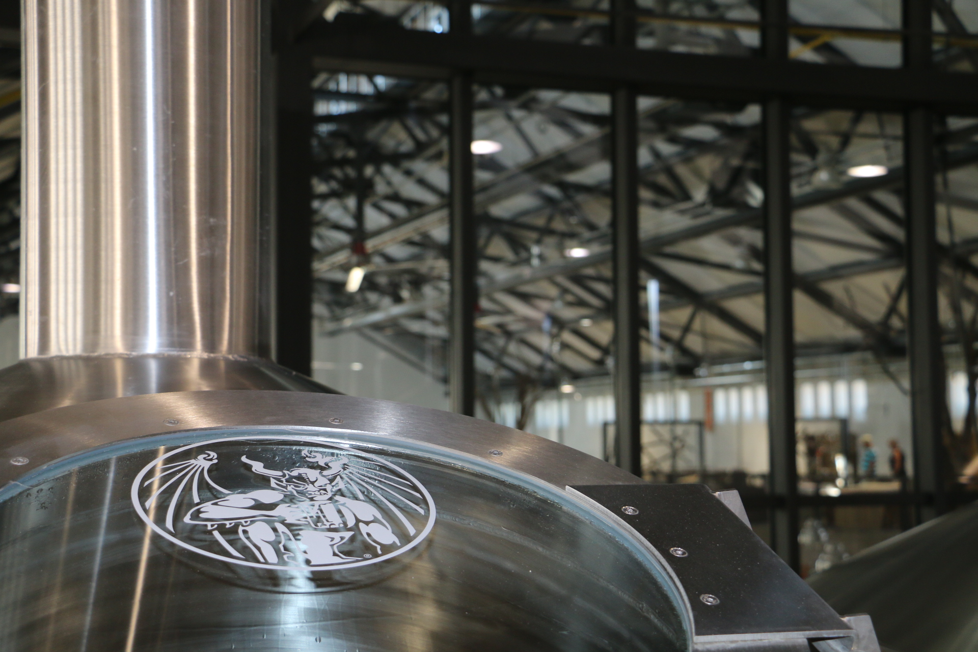 The brew kettle at Stone Brewing in Berlin, Germany. (image courtesy of Stone Brewing)