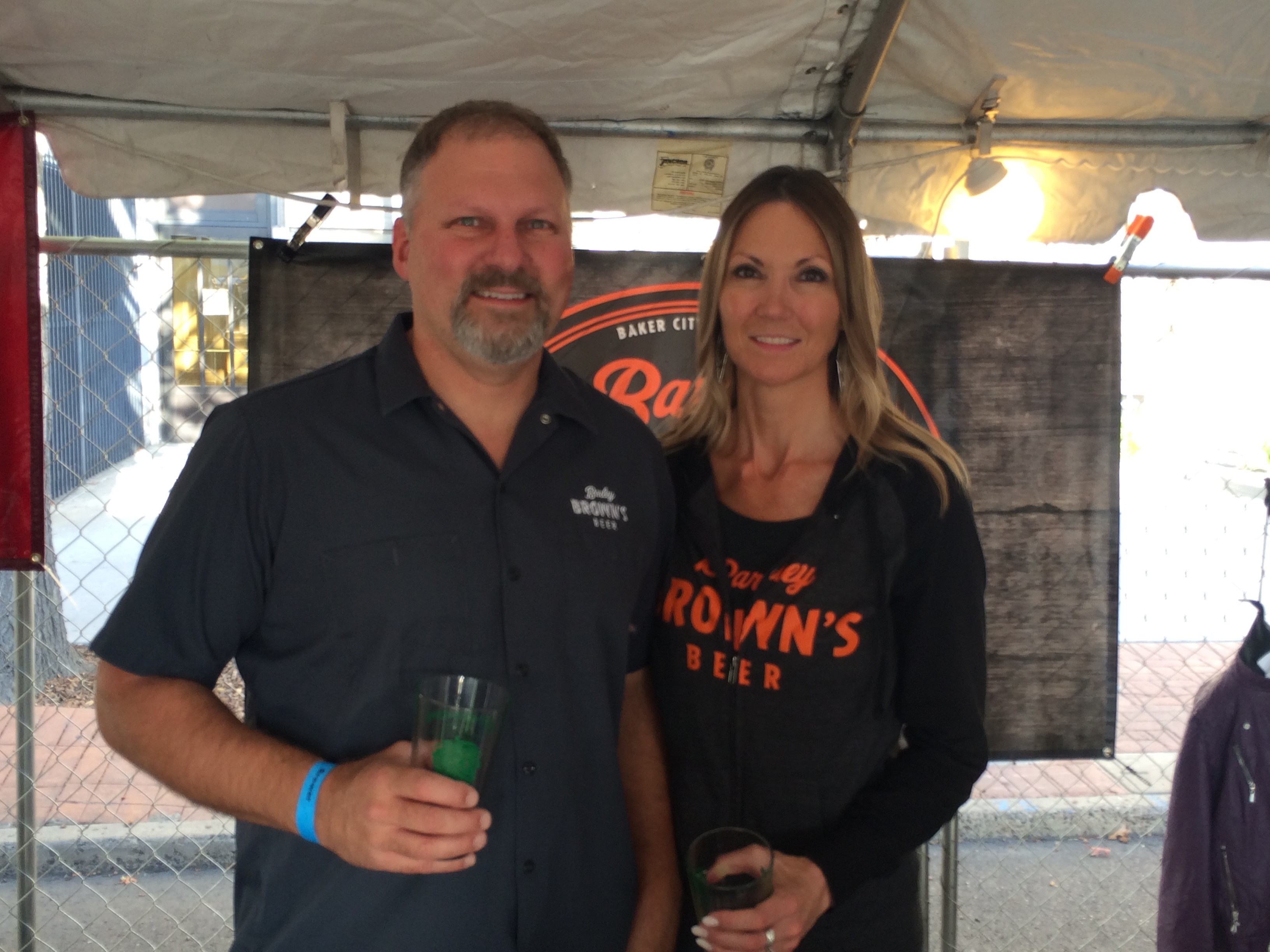 Tyler and Corrina Brown of Barley Brown's Beer at the 2015 Yakima Fresh Hop Ale Festival.