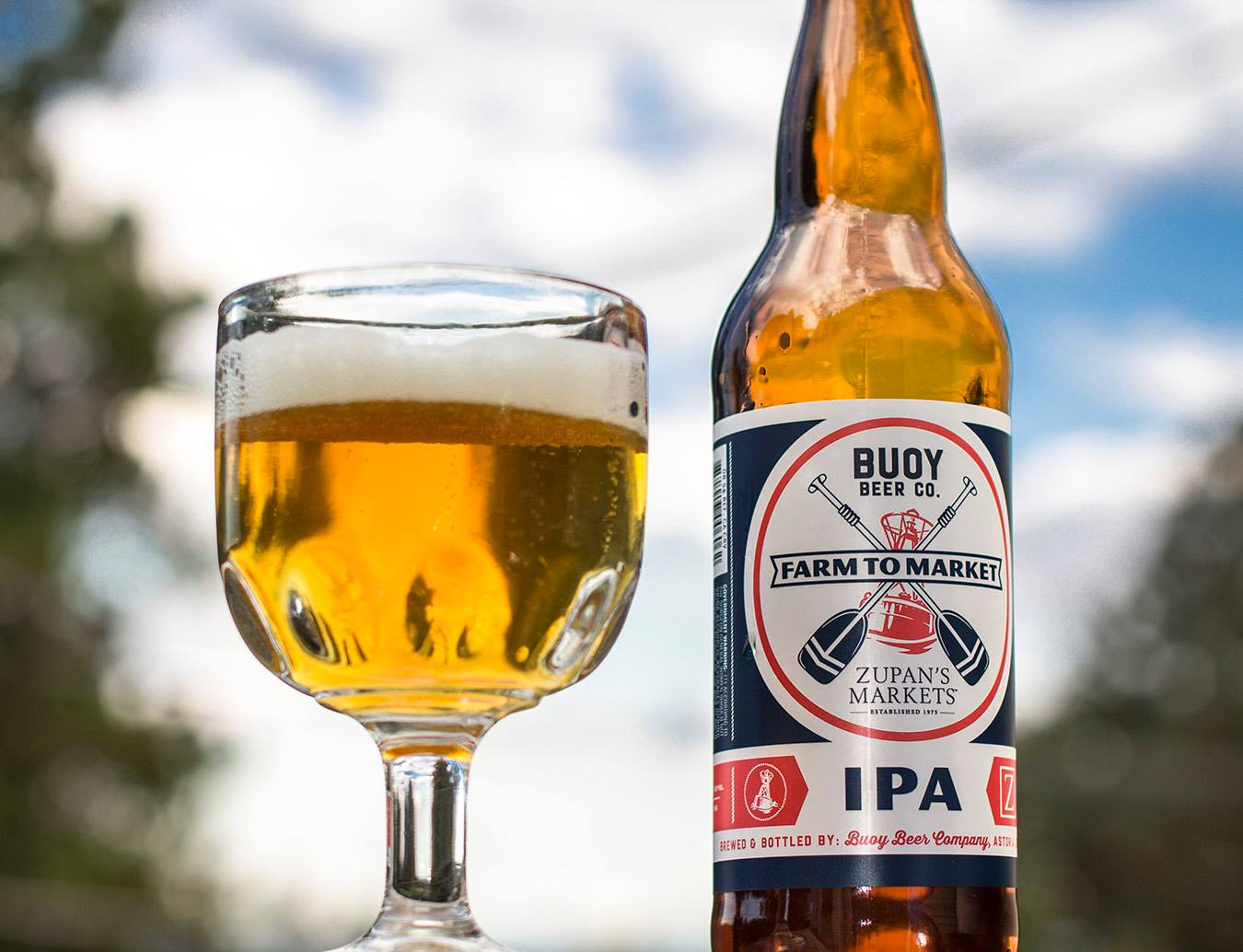 Zupan's Markets have collaborated on its next Farm To Market beer with Buoy Beer Co. on an exclusive IPA. (image courtesy of Zupan's Markets)
