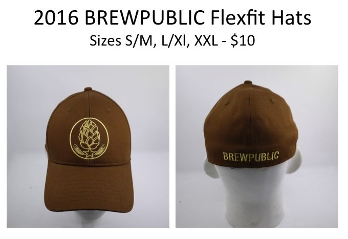 We will be selling these brand new BREWPUBLIC Flexfit hats during Killer Beer Week for an introductory price of only $10 per lid!