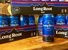 A 16 oz. can of Hopworks Urban Brewery and Patagonia Provisions Long Root Ale, brewed with Kernza perennial grain.