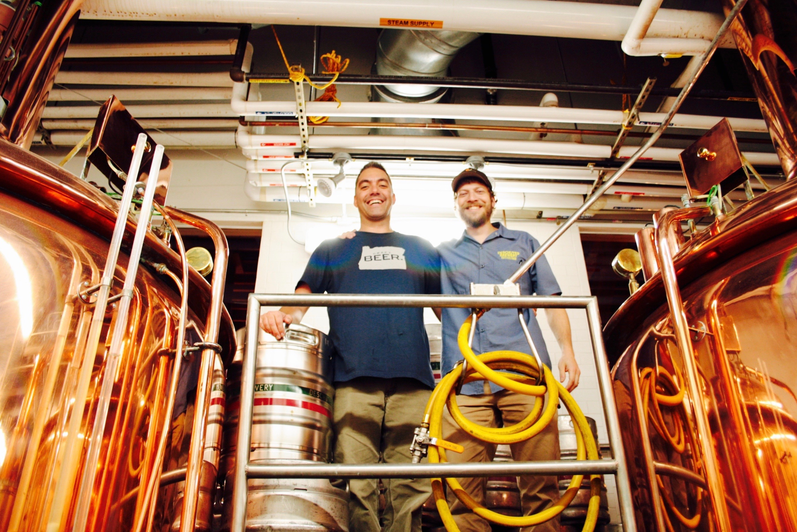 Ben Kehs and Jake Harper of Deschutes Brewery. (photo by Ryan Spencer)