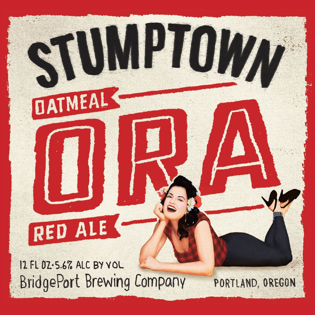 BridgePort Brewing Stumptown Oatmeal Red Ale (ORA) Label.