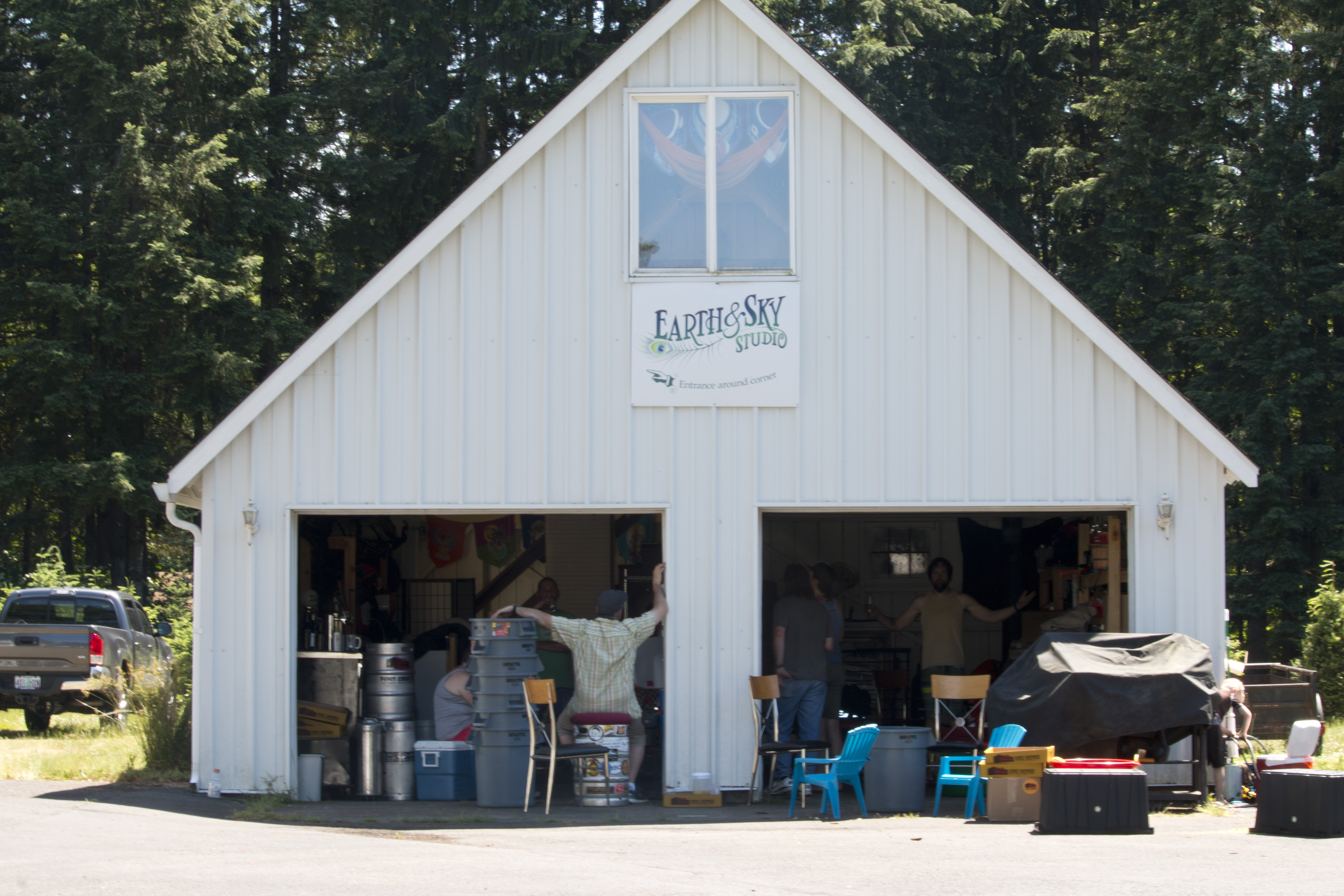 Earth Sky Farm where the fir tips were harvested to produce Magnanimous IPA. (image courtesy of Fort George Brewery)