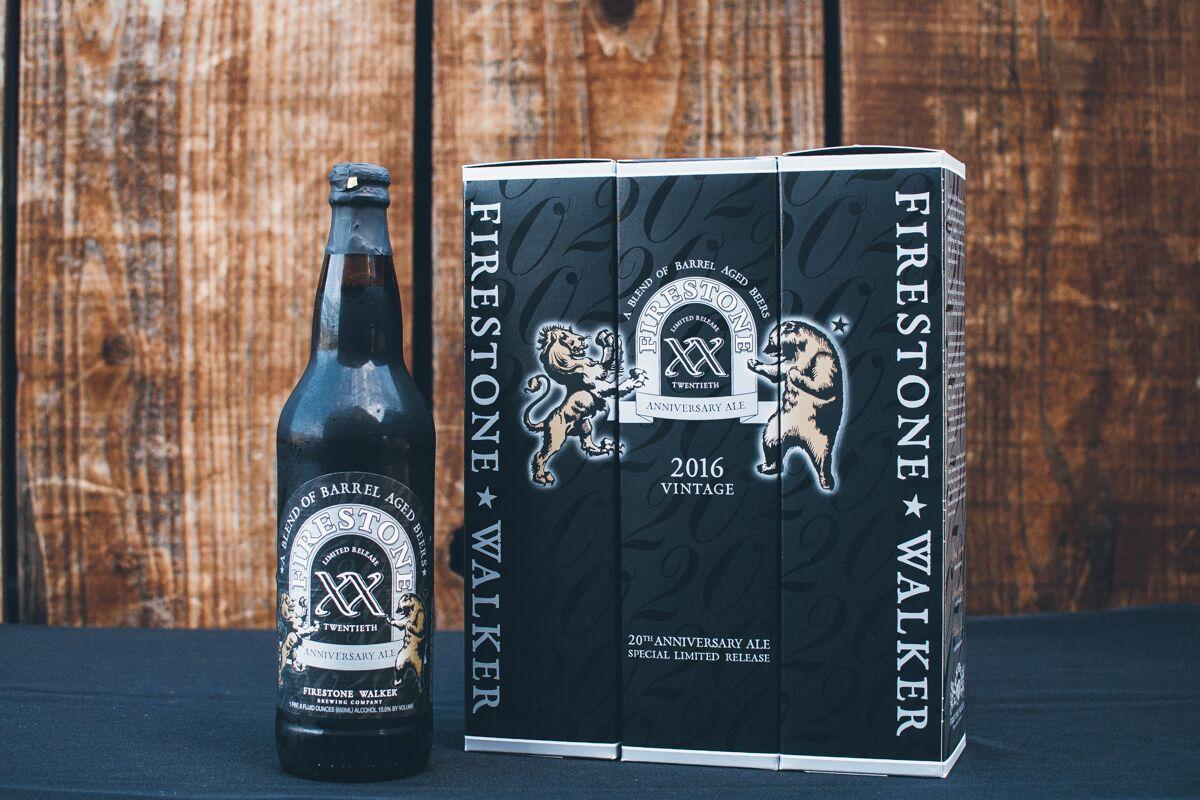 Firestone Walker Brewing Co. XX Anniversary Ale. (image courtesy of Firestone Walker Brewing Co.)